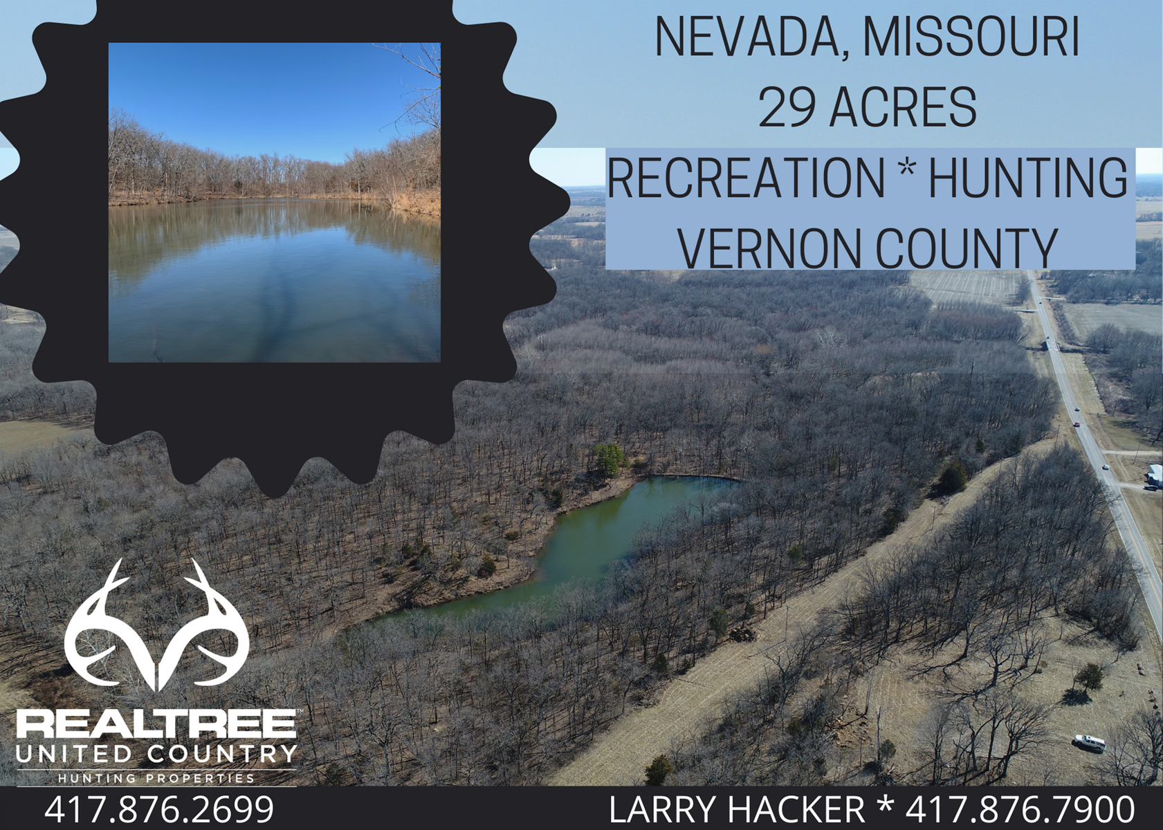Vernon County Hunting and Fishing Property with Lake