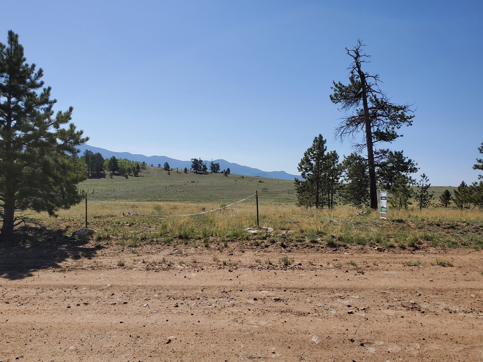 Level lot with trees Como CO National Forest Fish ATV