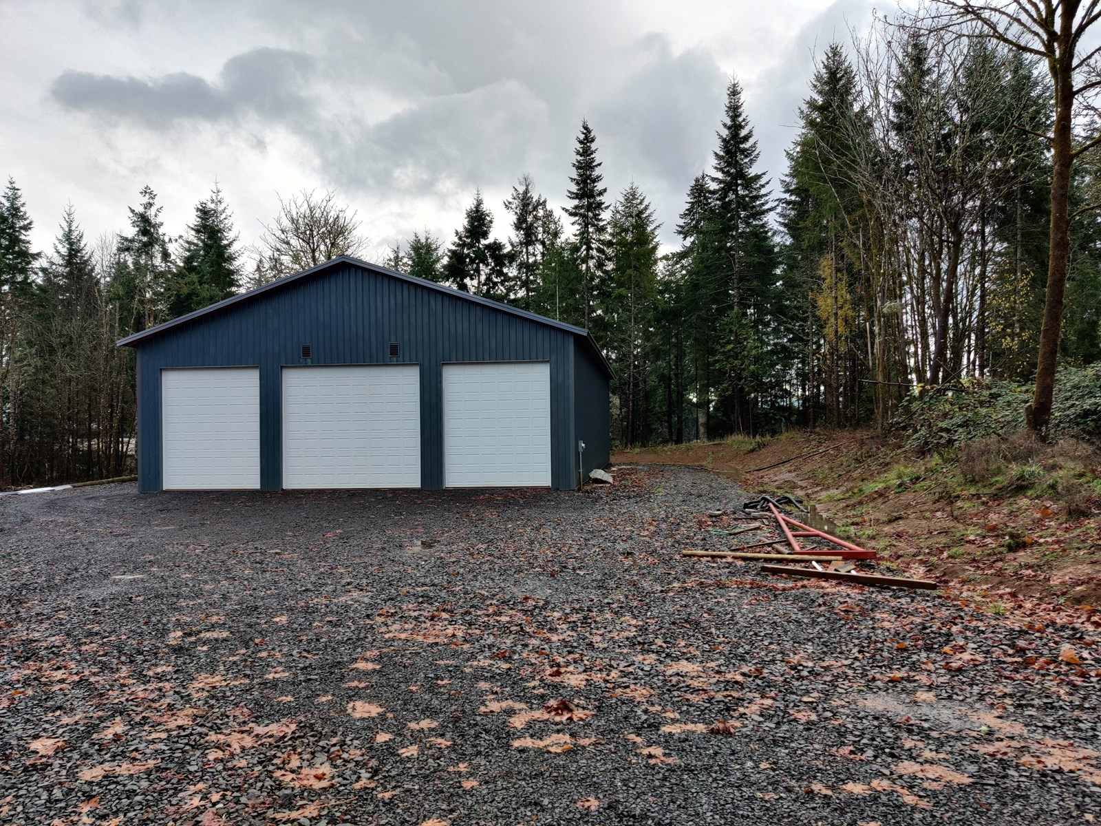 Build Ready Lot with Huge Shop, power, water near Chehalis