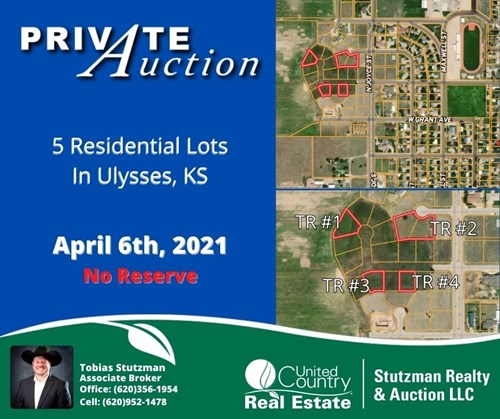 ULYSSES KS ~ ABSOLUTE ~ NO RESERVE ~ PRIVATE AUCTION
