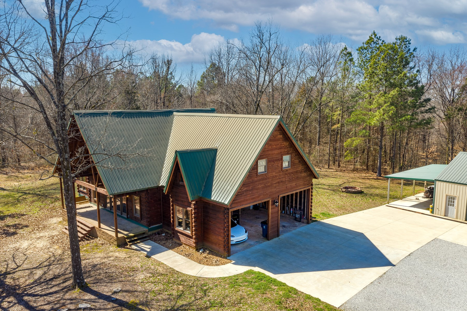 Tennessee Log Home for Sale - Private Setting in the Woods