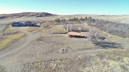 Recreational hunting property with log cabin & old west town