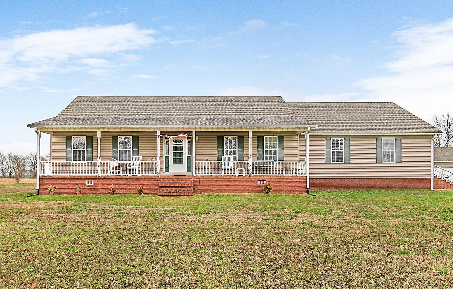 TN Country Home for Sale on 5 Acre Lot w/ In-ground Pool