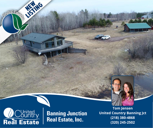 Country Home for Sale on Acreage in Askov, MN