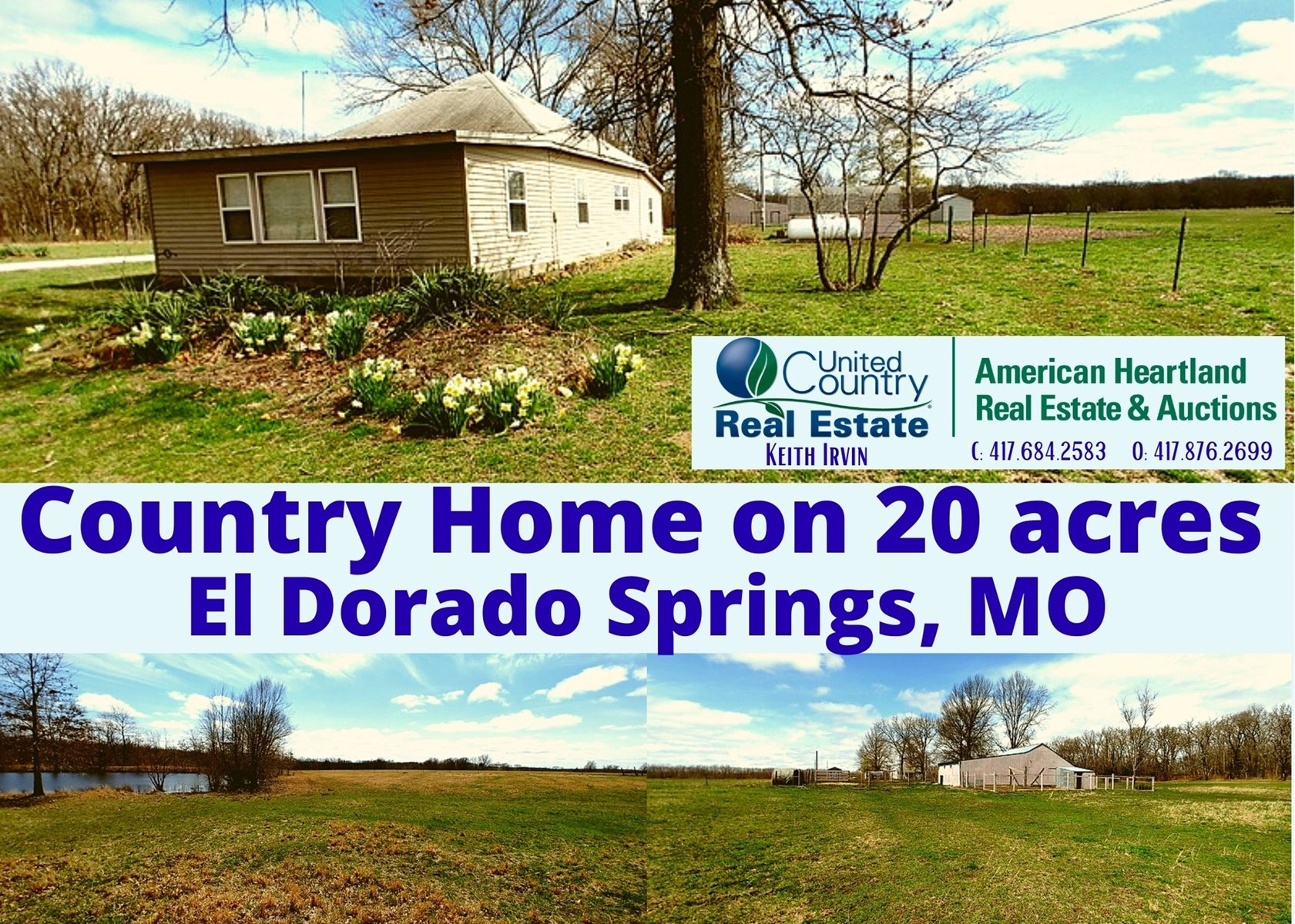 Cedar County Missouri Country Home with Acreage for Sale