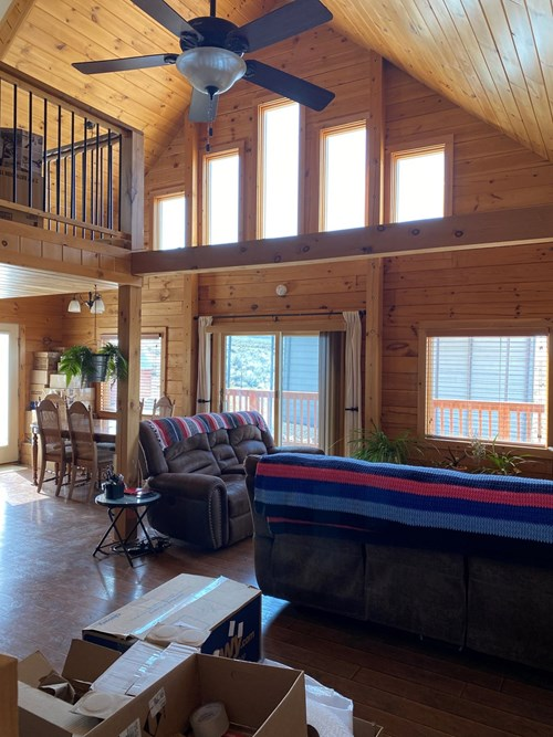 Log Cabin for sale on 4 acres in the Humboldt River Ranch
