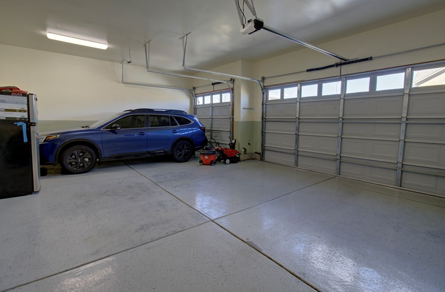garage finished, painted and epoxy floor