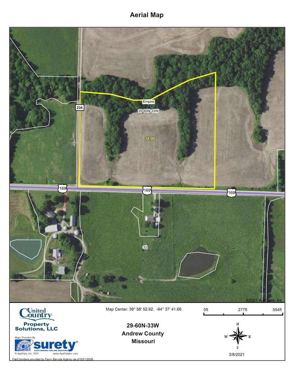 Building A Home? Don't Miss This! 15 Acres w/ Timber & Hwy