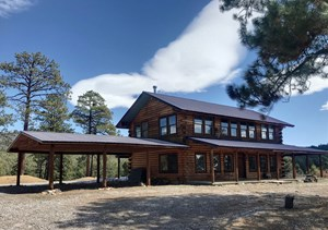 NORTHERN NM LOG HOMES FOR SALE WITH ACREAGE, CHAMA RANCH