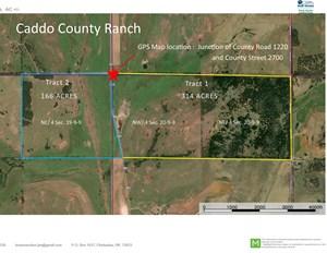 OKLAHOMA RANCH - 314 ACRES - NORTHERN CADDO COUNTY