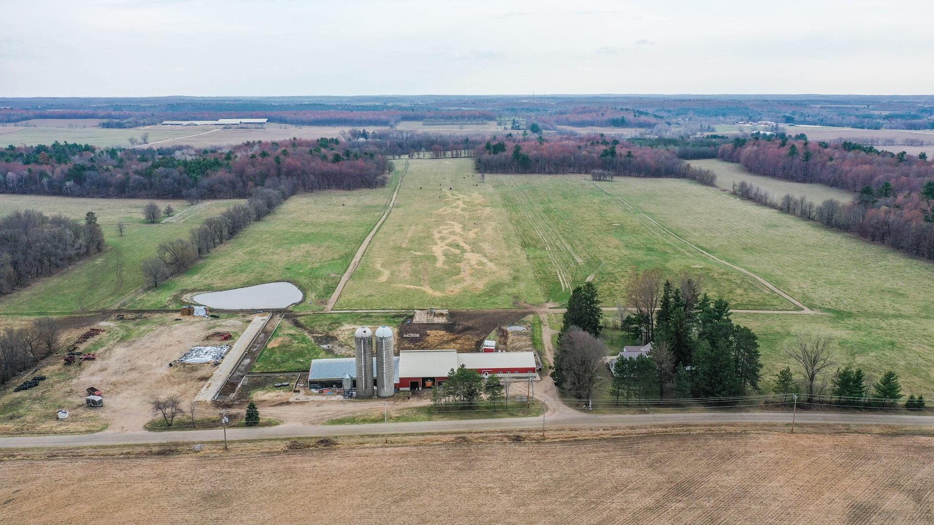 Wisconsin Dairy Farm For Sale, Portage County