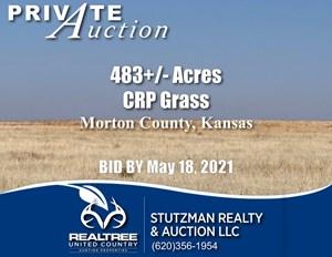 MORTON COUNTY, KS ~ CRP & GRASS ~ PRIVATE AUCTION