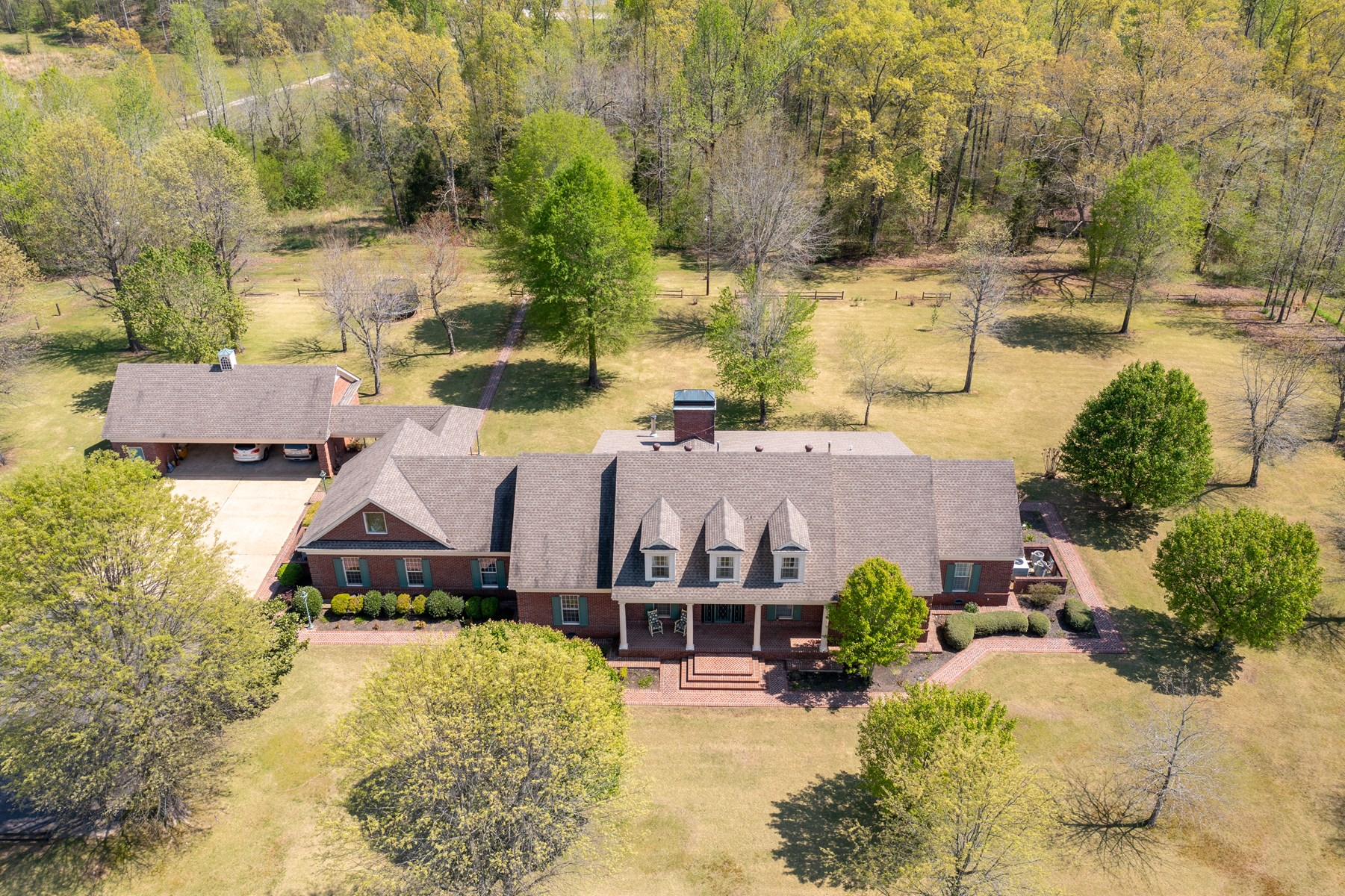 Brick 6 BR 3 1/2 BA Country Home  in Toone TN with 32 Acres