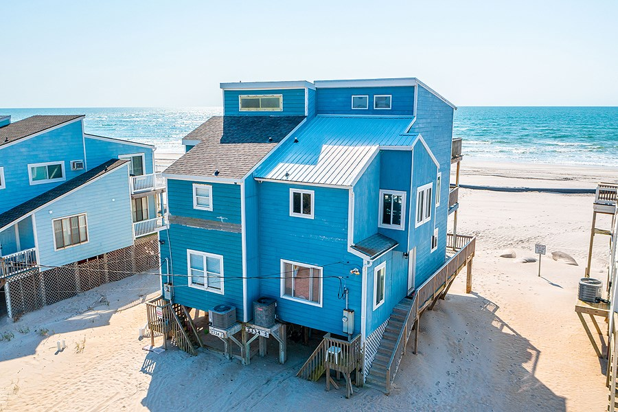 3 BR Oceanfront Duplex For Sale on North Topsail Beach