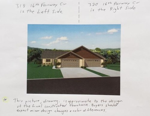 Golf Course Townhouse New Construction Home for sale in WI