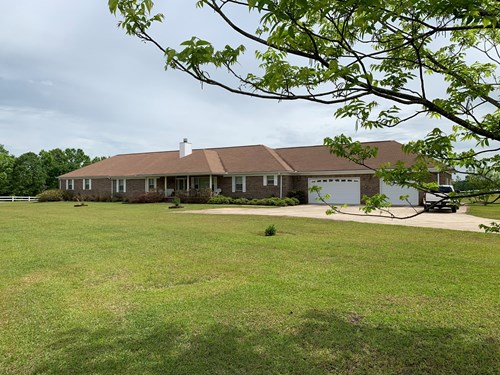 Equine Property with Country Home For Sale in Georgiana, AL