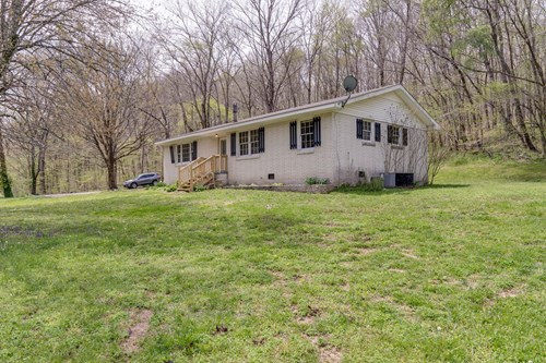 Country Home with Acreage for Sale in Linden, Tennessee
