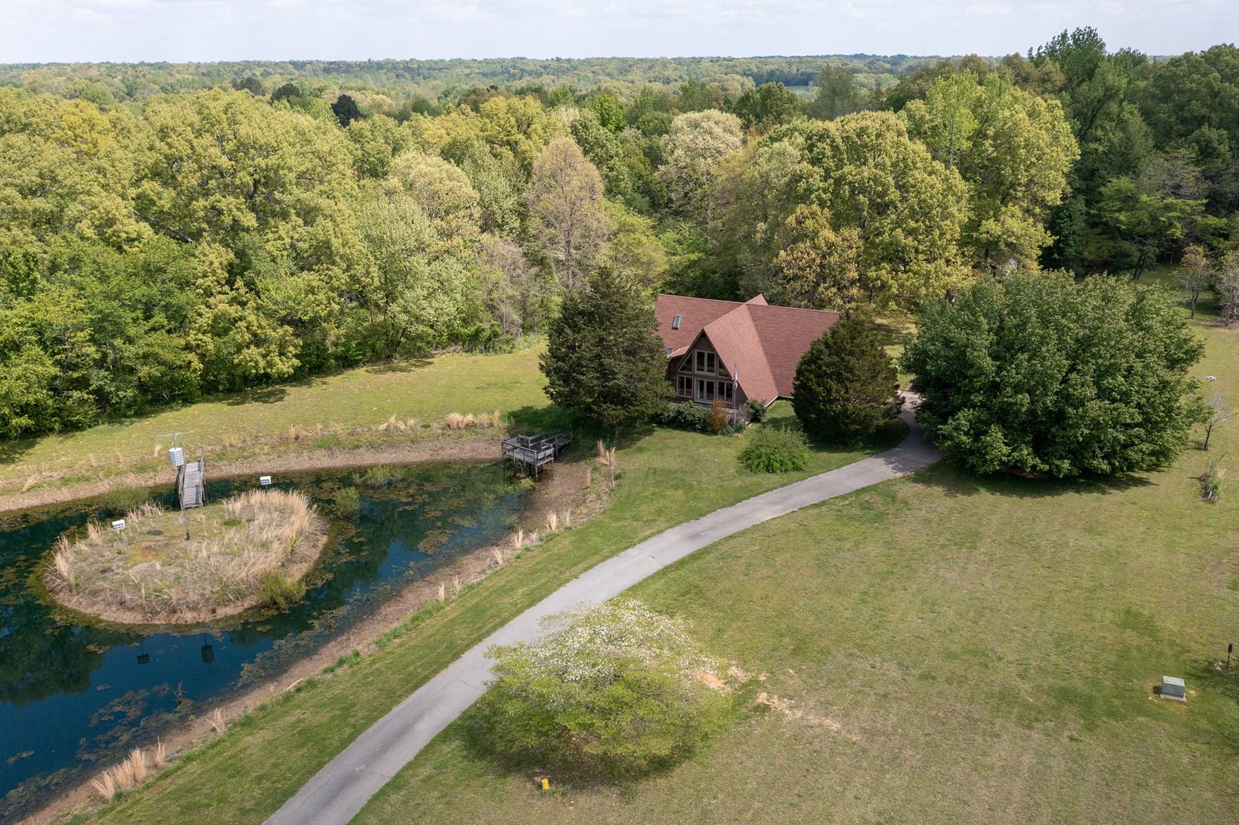 A-Frame with Acreage, Ponds & Decks For Sale near Jackson TN