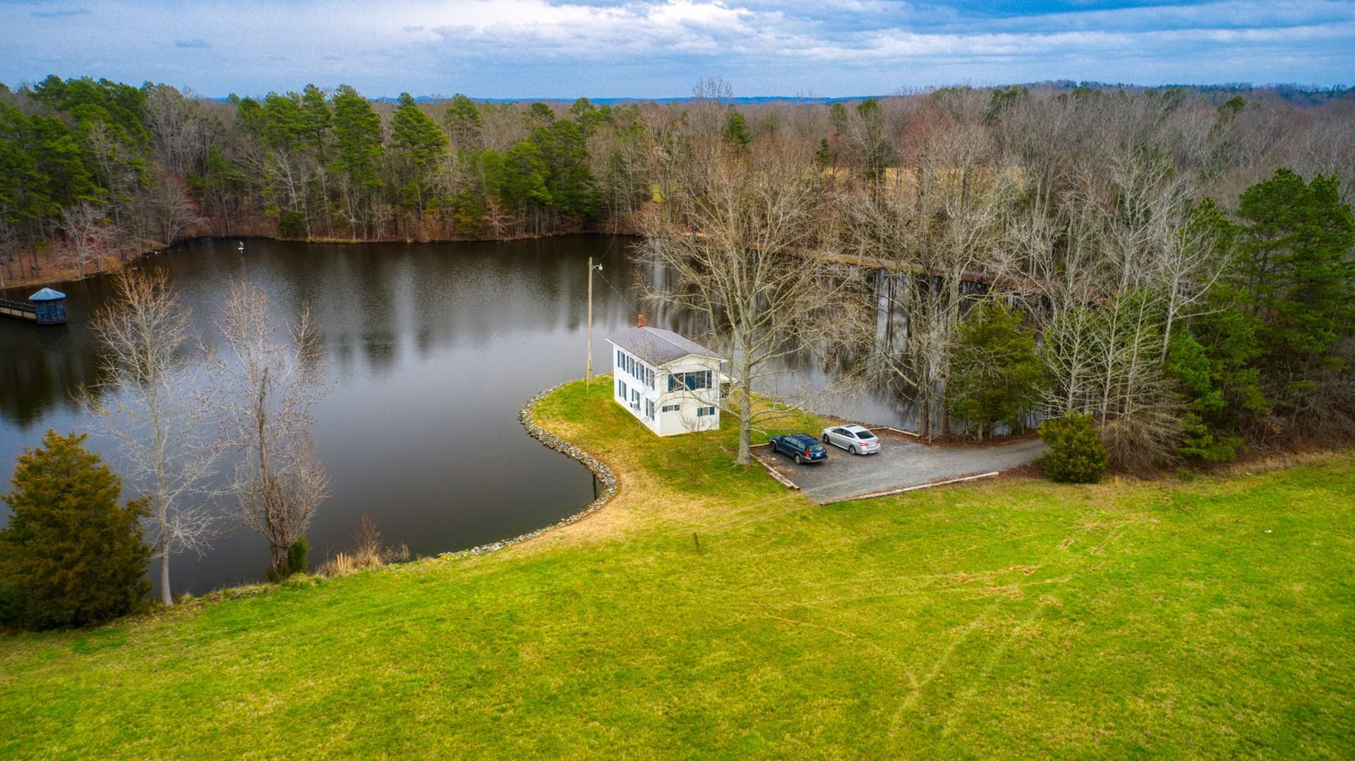 Lakefront Cabin For Sale in Oakboro, NC