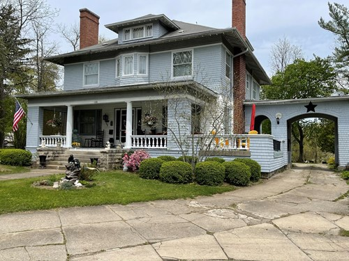 Historic Home with Cottage For Sale in Woodsfield, OH