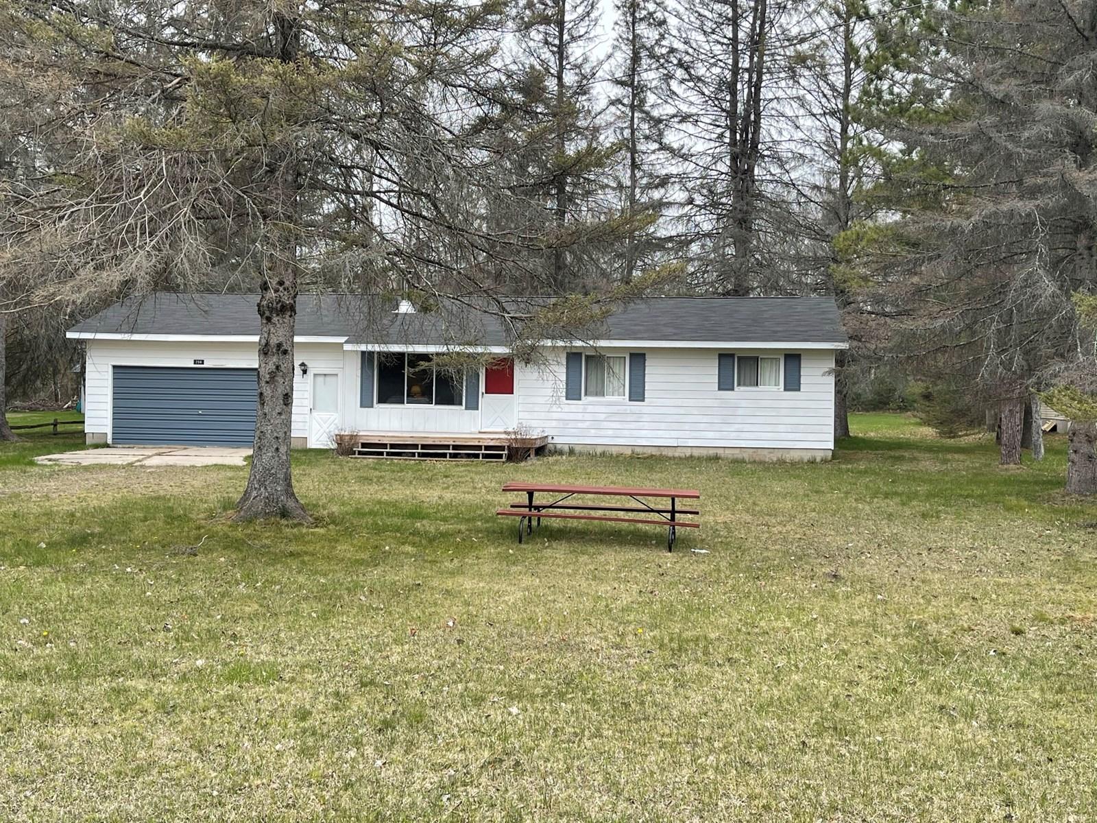 Northern Michigan Beaver Lake Cabin Home for Sale