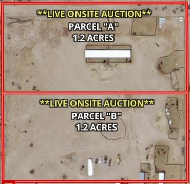 TWO 1.2 ACRE LOTS IN TONOPAH AZ FOR SALE AT LIVE AUCTION