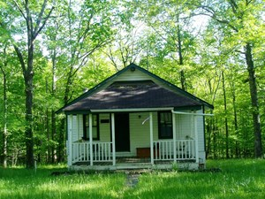 ONE BEDROOM ONE BATH CABIN WITH A BASEMENT JOINS CORP OF ENG