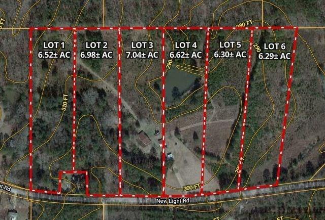 6.98 Acres - Lot 2 New Light Rd, Starkville, MS