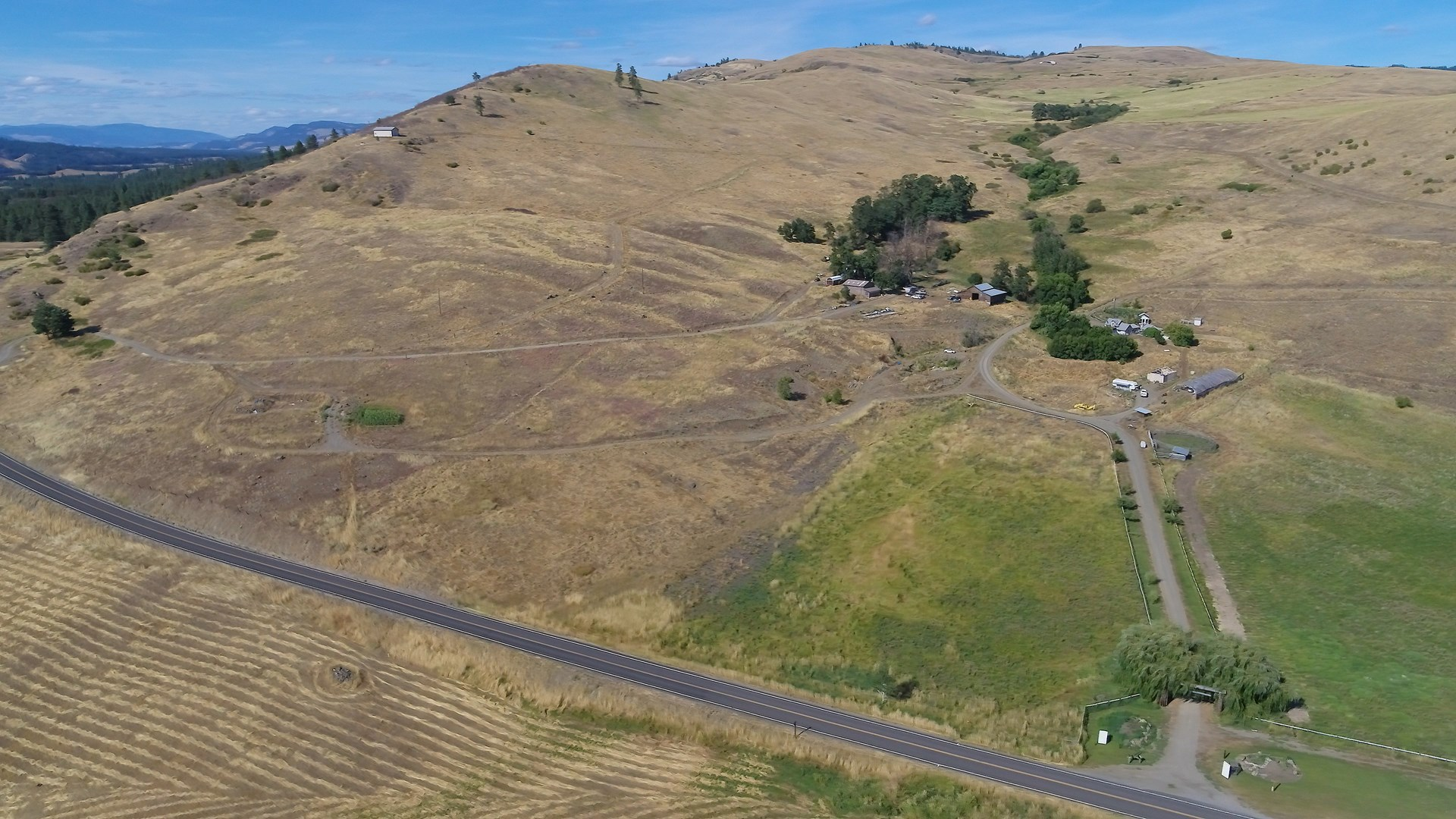 11+ Acres near Lake Roosevelt with Views and RV Pad