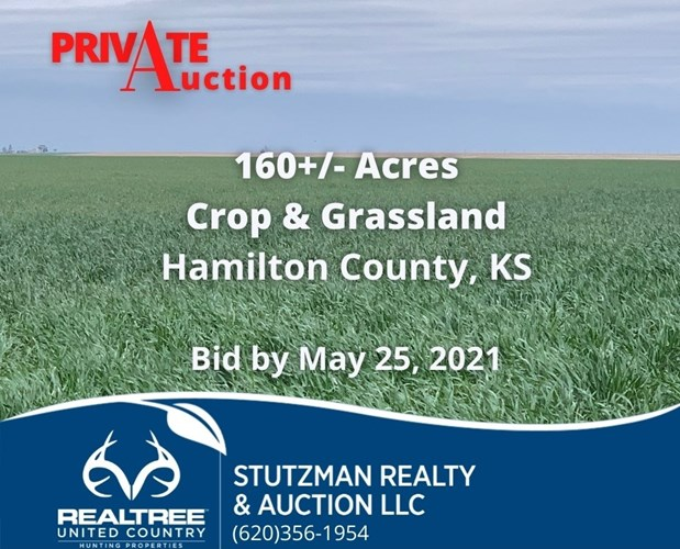 HAMILTON COUNTY, KS - ABSOLUTE PRIVATE AUCTION 160+/- ACRES