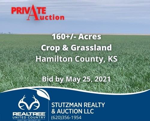 HAMILTON COUNTY, KS - ABSOLUTE PRIVATE AUCTION 160+/- ACRES
