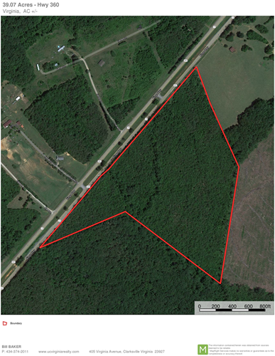 VIRGINIA TIMBERLAND AUCTION NEAR KERR LAKE, 39AC