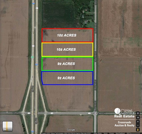 38± Acres of Interstate I-135 Commercial Development Land