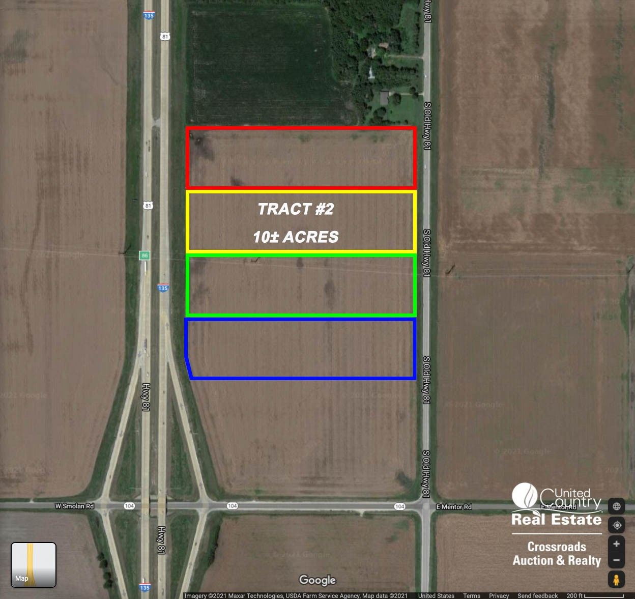 Tract #2 - 10± Acre Commercial Development Lot near Salina