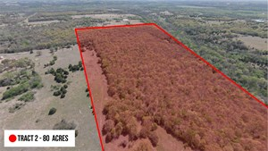 OKLAHOMA HUNTING LAND FOR SALE – LINCOLN COUNTY - 80 ACRES