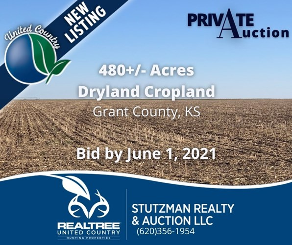 GRANT COUNTY KS ~ 480 ACRE FARM ~ PRIVATE AUCTION