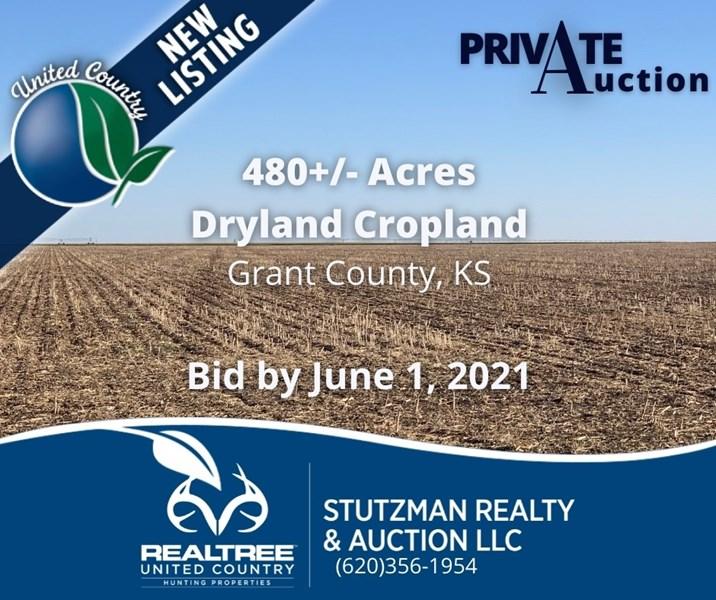stutzman farm land auction sale ks