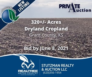 GRANT COUNTY KS ~ 320 ACRE FARM ~ PRIVATE AUCTION
