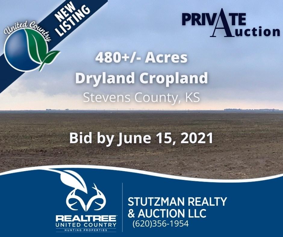 STEVENS COUNTY, KS ~ 480 ACRE FARM ~ PRIVATE AUCTION