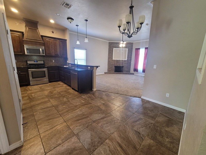 Kitchen/Living from Foyer