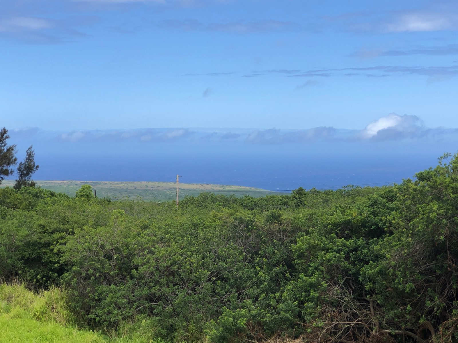 Hawaii Big island lot for sale w/ocean view and permits