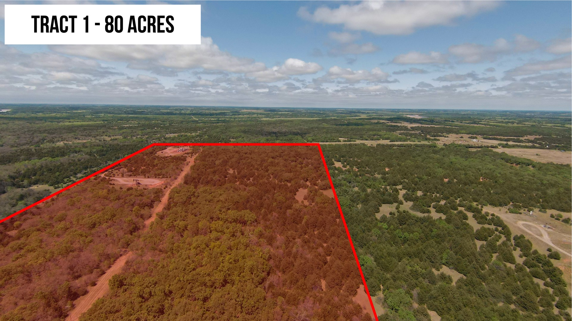 80 Acres Oklahoma Hunting Land for Sale –  Logan County