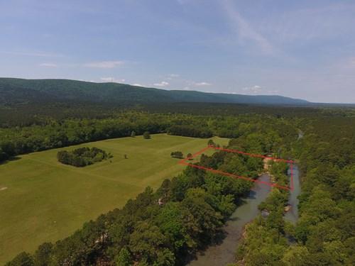 2.3 Acre Kiamichi River Mountain Cabin -  National Forest