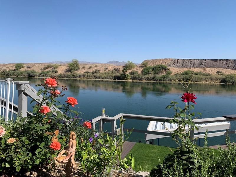 Riverfront backyard landscaped