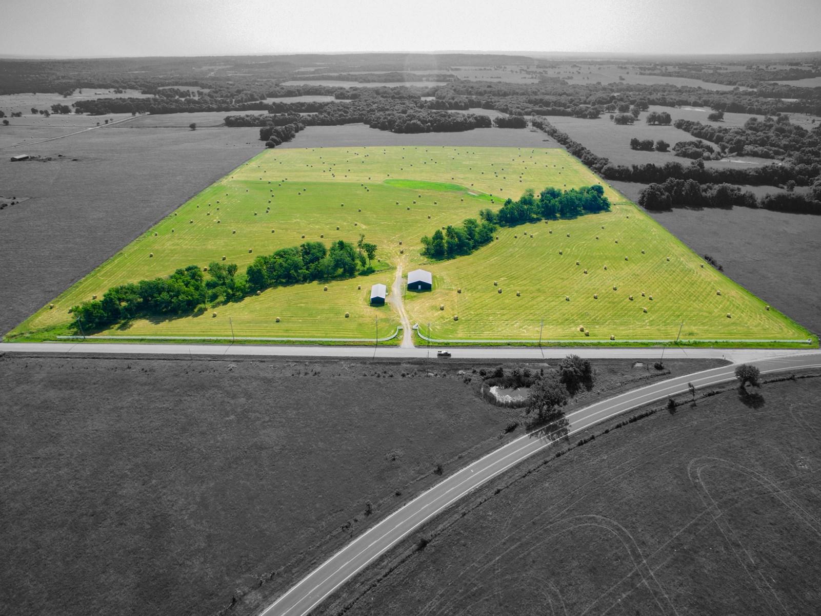 Kansas Land For Sale, Linn County Pasture Land