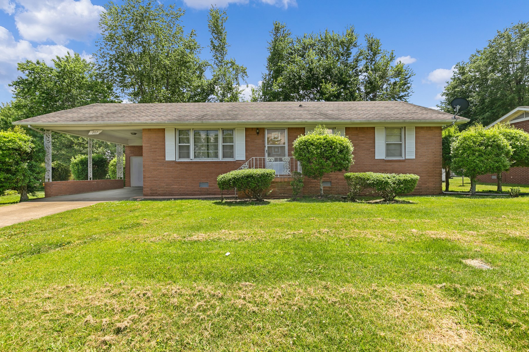 Brick Home for Sale on Nice Lot in Bradford, Tennessee