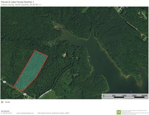 20 ACRES WITH 1500 FEET OF LAKE FRONTAGE ON KERR LAKE, NC