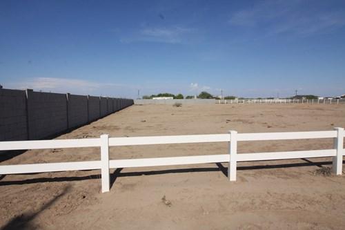 Fenced Horse Land for sale Casa Grande Arizona. Build a home