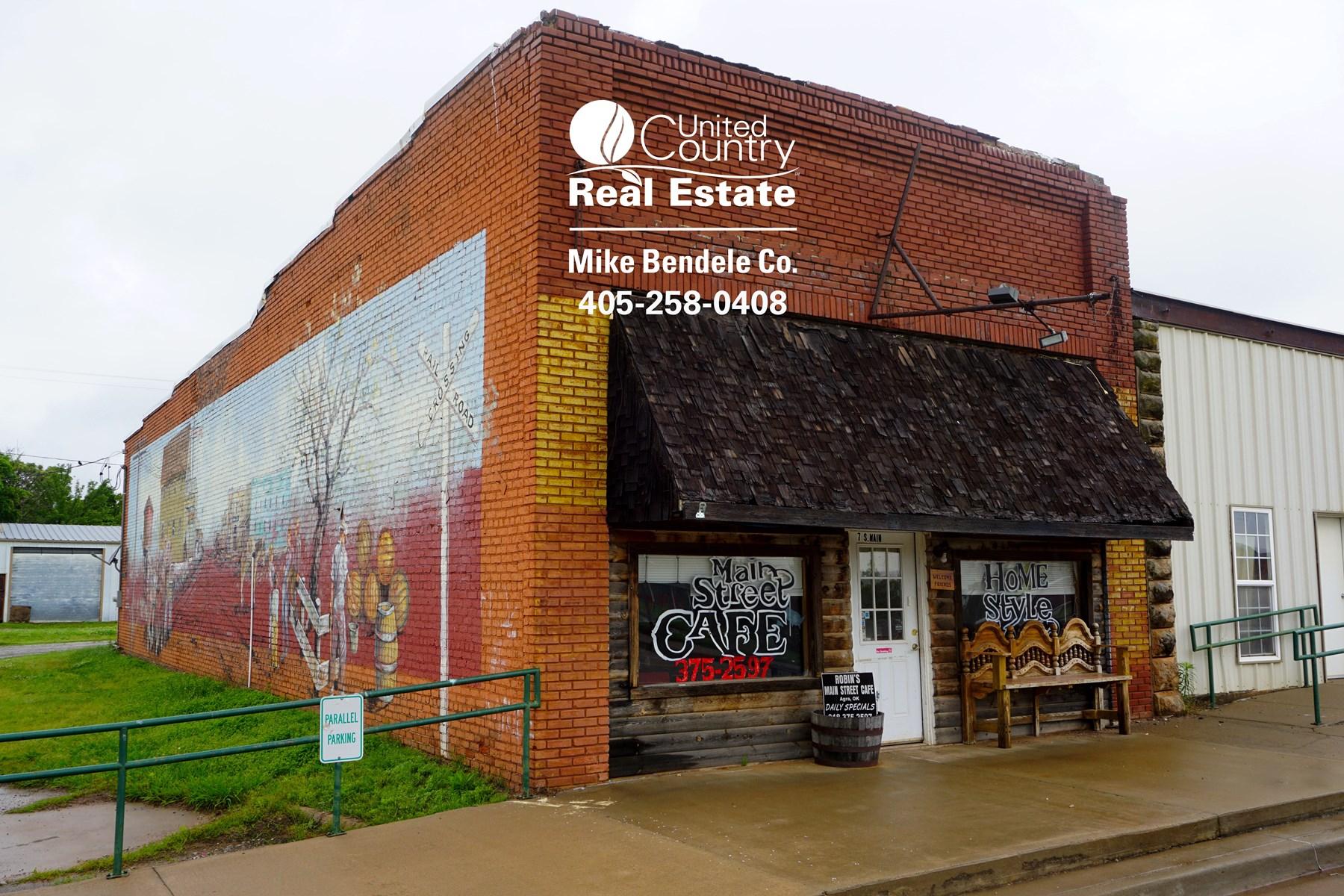 Central Oklahoma Main Street Restaurant For Sale, Agra, OK