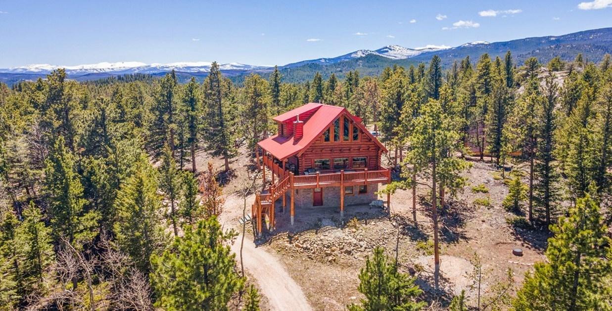 High End Log Home